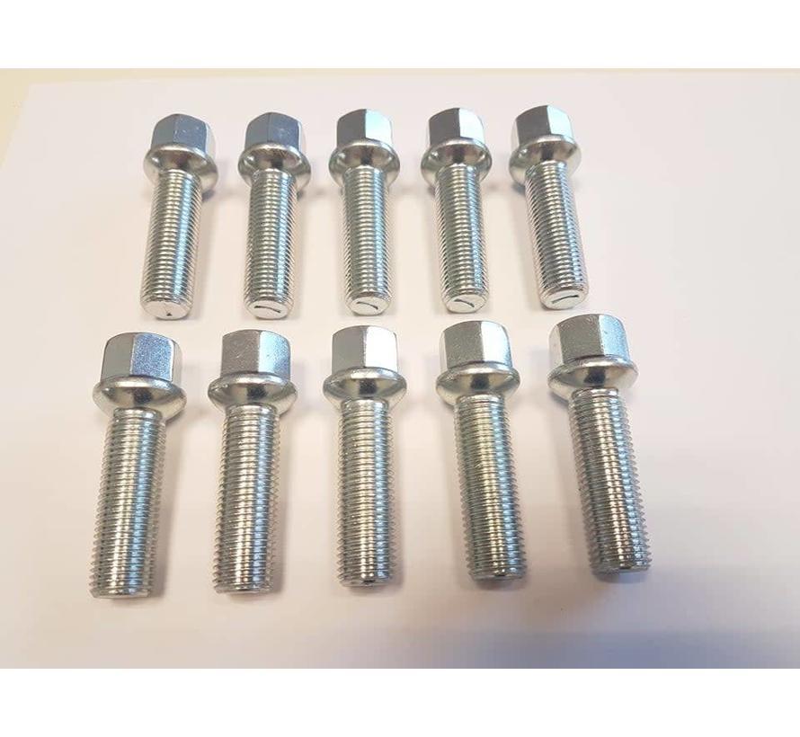 Wielbout M12x1,5x40mm Bolconisch R12 silver (10 stuks)