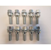 ST suspensions Wielbout M12x1,5x32mm lose Conisch 60graden silver (10 stuks)