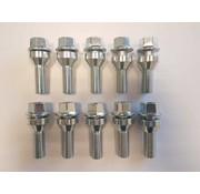 ST suspensions Wielbout M12x1,5x34mm loose Conisch 60graden silver (10 stuks)