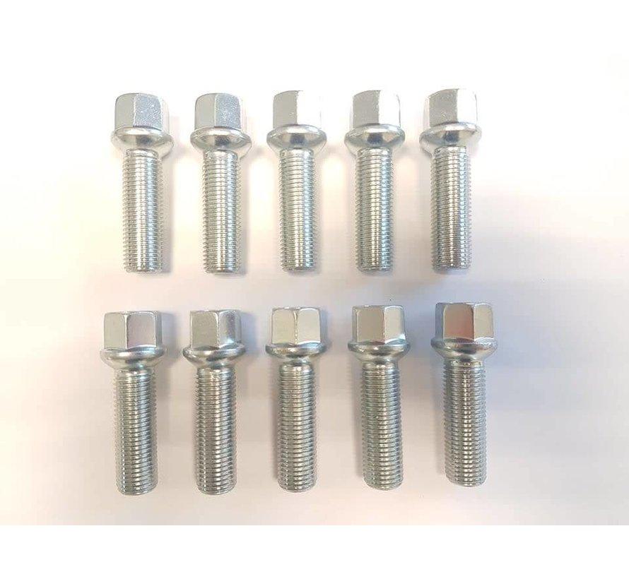 Wielbout M14x1,5x40 Bolconisch R14 silver (10 stuks)