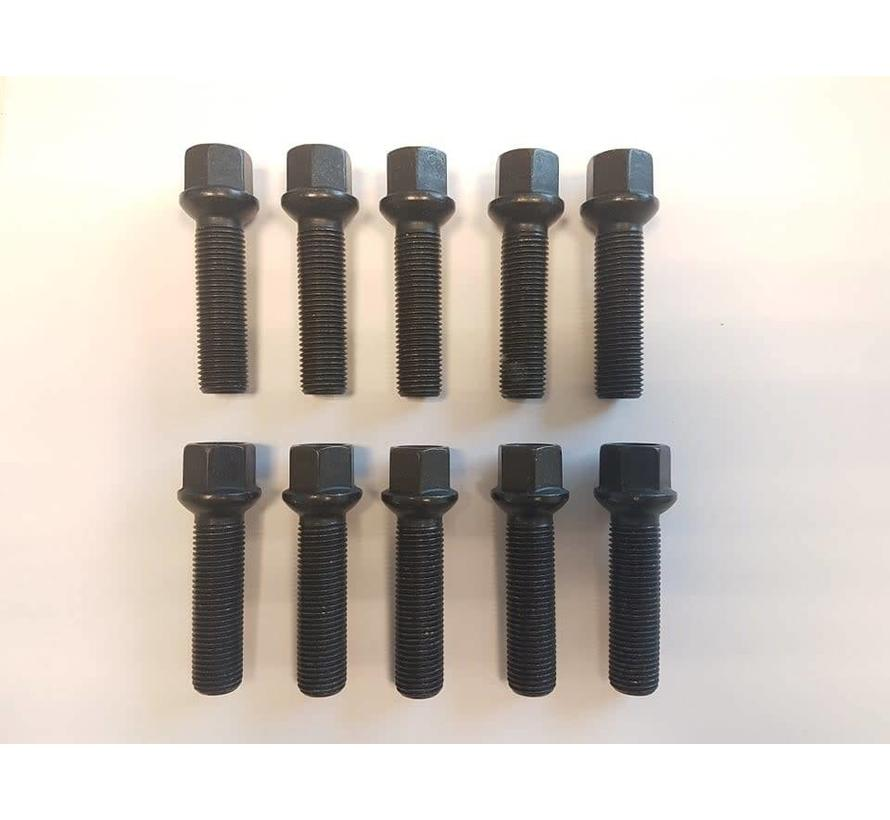 Wielbout M14x1,5x47 Bolconisch R14 black (10 stuks)