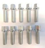 ST suspensions Wielbout M14x1,5x47 Bolconisch R13 silver (10 stuks)