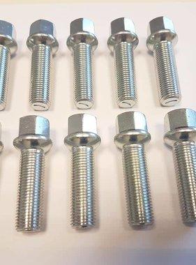 ST suspensions Wielbout M14x1,5x60 Bolconisch R13 silver (10 stuks)