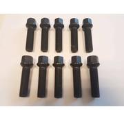 ST suspensions Wielbout M12x1,5x43mm Bolconisch R12 black (10 stuks)