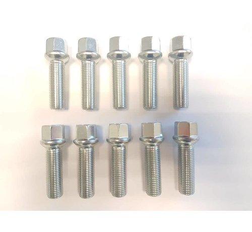 ST suspensions Wielbout M14x1,5x45 Bolconisch R13 silver (10 stuks)