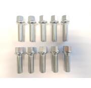 ST suspensions Wielbout M14x1,5x57 Bolconisch R14 silver (10 stuks)