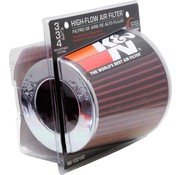 Autostyle K&N RG-Serie universeel vervangingsfilter met 3 aansluitdiameters Rood (RG-1001RD)