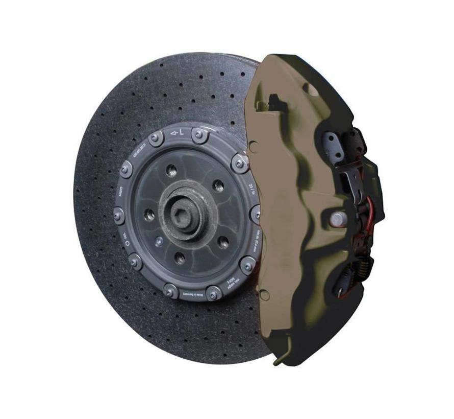 Foliatec Remklauwlakset - Combat mat-groen - 3 Komponenten