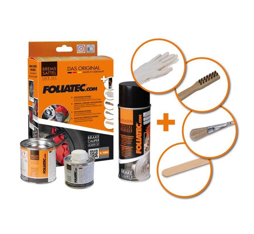 Foliatec Remklauwlakset - Performance Rood Glanzend - 3 Komponenten