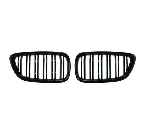 Autostyle Glanzend zwarte Grills BMW 2-Serie F22 2013-2016 'M-Style