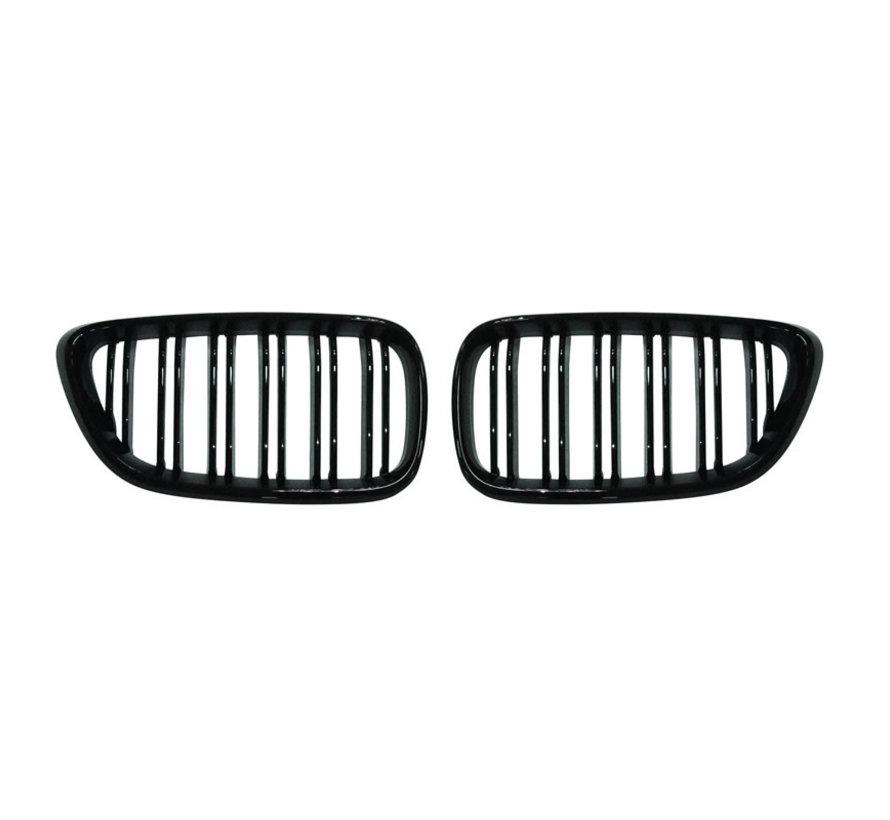 Glanzend zwarte Grills BMW 2-Serie F22 2013-2016 'M-Style