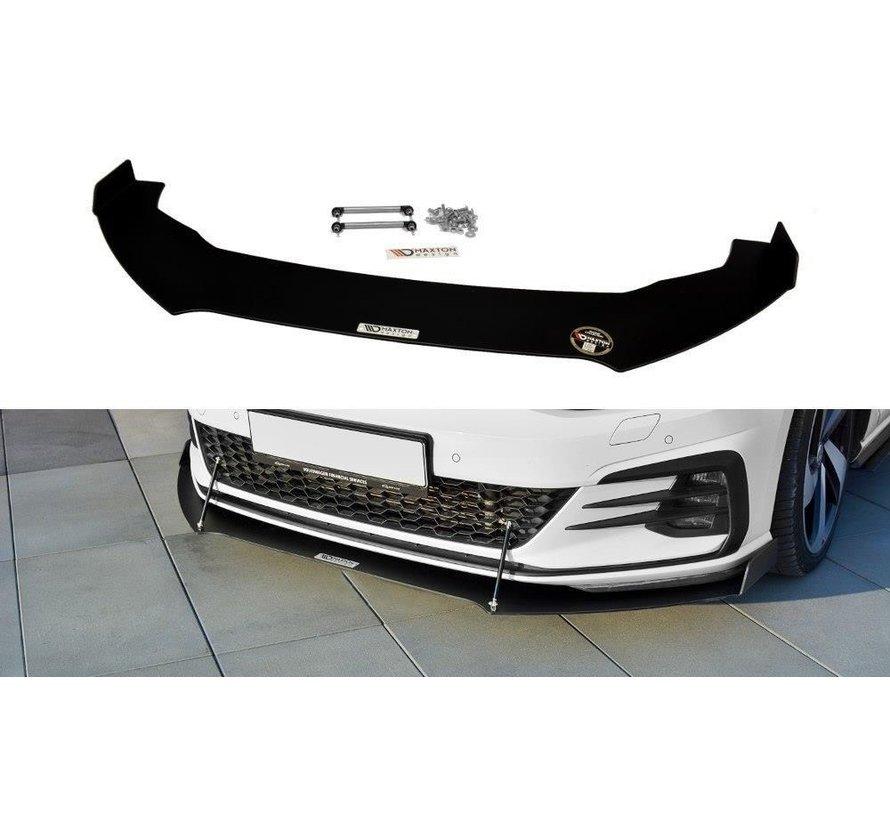 Maxton Design FRONT RACING SPLITTER V.2 VW GOLF 7 GTI FACELIFT