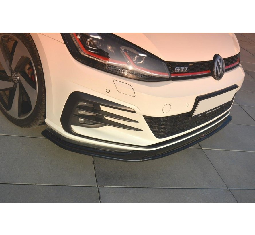 Maxton Design FRONT SPLITTER V.2 VW GOLF 7 GTI FACELIFT