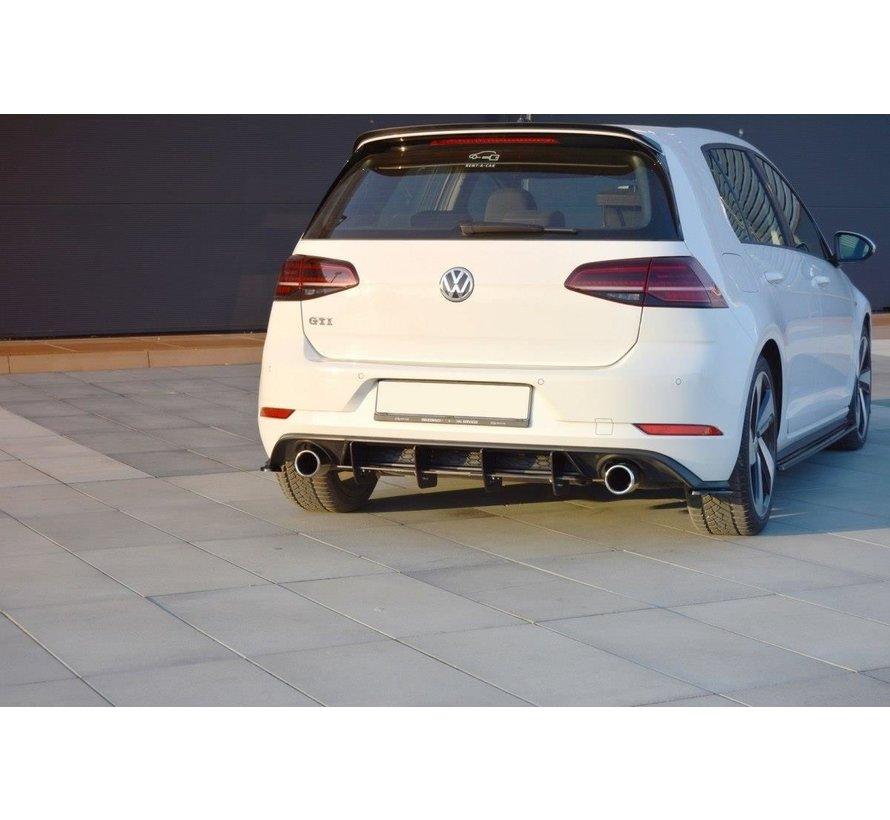 Maxton Design REAR DIFFUSER VW GOLF 7 GTI FACELIFT