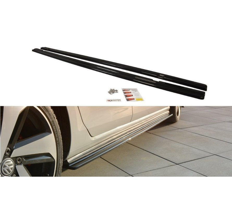 Maxton Design SIDE SKIRTS DIFFUSERS VW GOLF 7 GTI PREFACE/FACELIFT