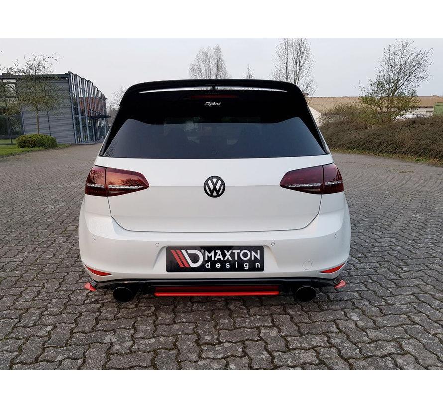 Maxton Design CENTRAL REAR DIFFUSER VW GOLF 7 GTI CLUBSPORT