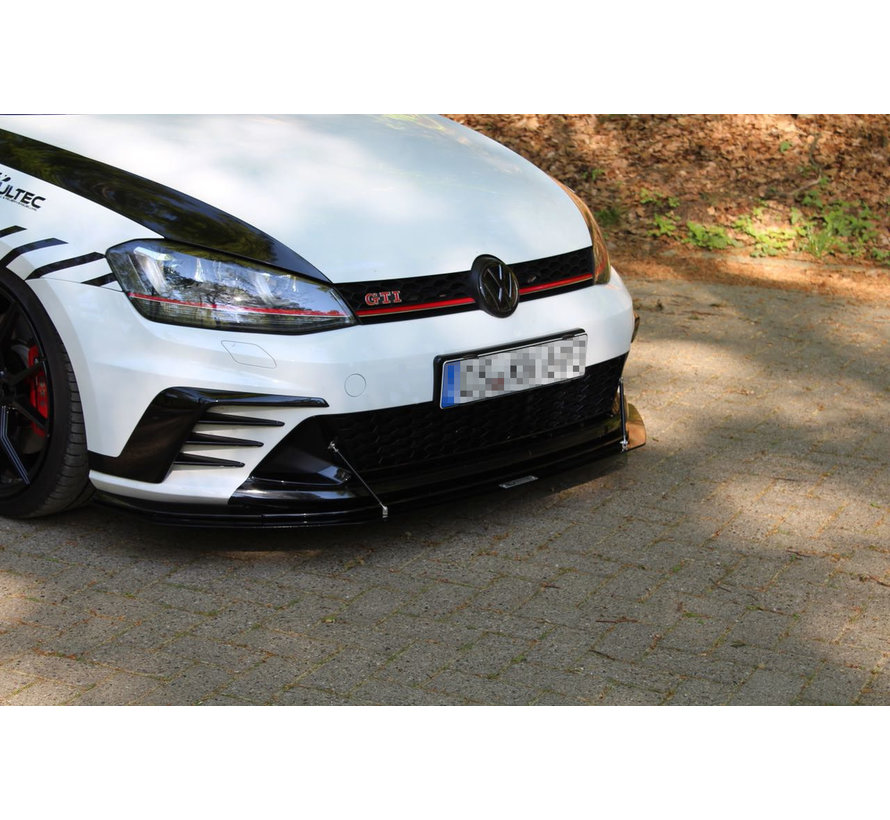Maxton Design FRONT RACING SPLITTER VW GOLF 7 GTI CLUBSPORT