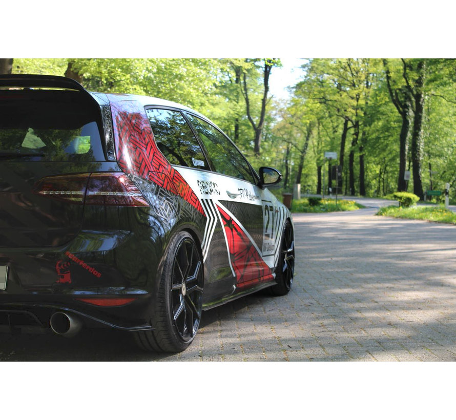 Maxton Design RACING SIDE SKIRTS DIFFUSERS VW GOLF 7 GTI CLUBSPORT