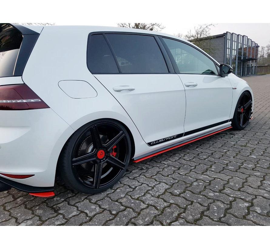 Maxton Design SIDE SKIRTS DIFFUSERS VW GOLF 7 GTI CLUBSPORT