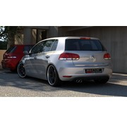 Maxton Design Maxton Design REAR DIFFUSER VW GOLF 6 WITH 1 EXHAUST HOLE