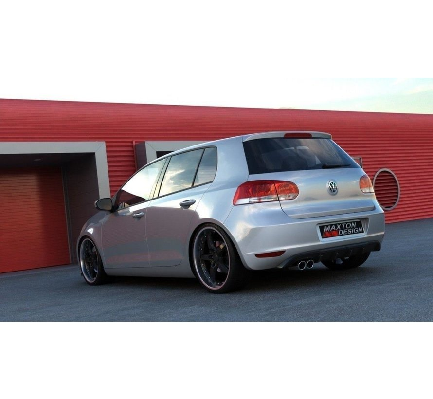 Maxton Design REAR DIFFUSER VW GOLF 6 WITH 1 EXHAUST HOLE