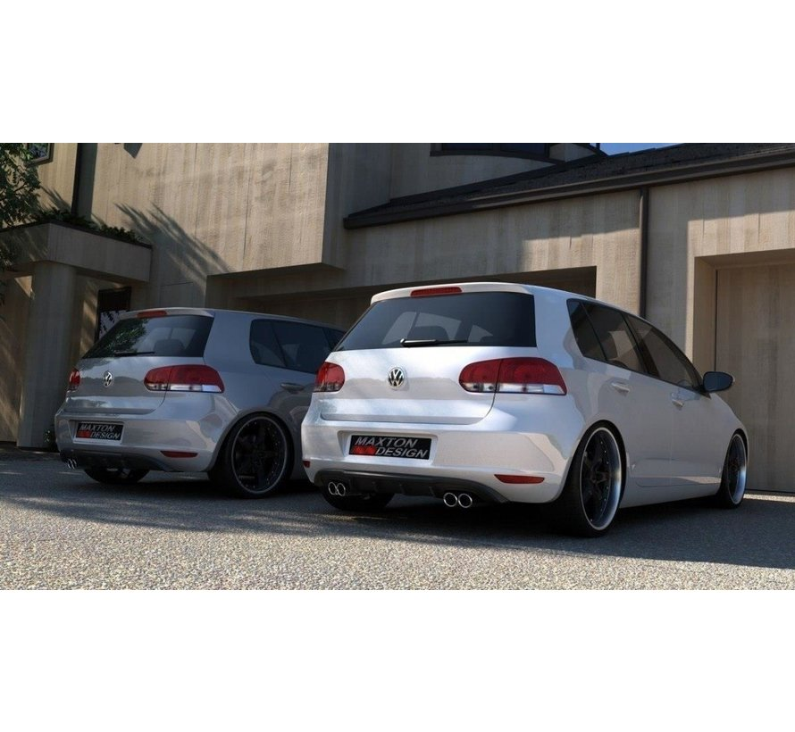 Maxton Design REAR DIFFUSER VW GOLF 6 WITH 2 EXHAUST HOLE