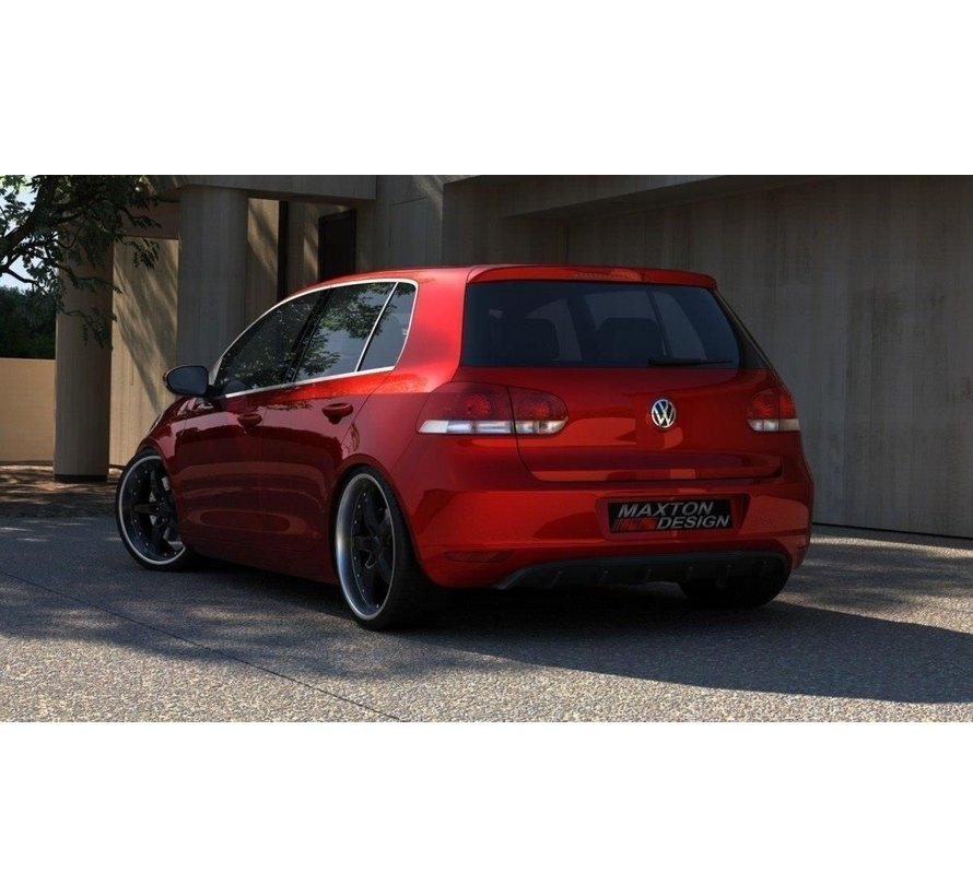 Maxton Design DIFFUSER VW GOLF 6 WITHOUT EXHAUST HOLE