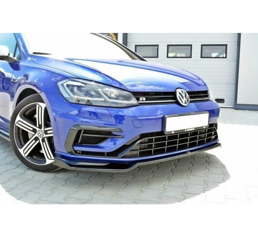 Maxton Design FRONT SPLITTER V.2 VW GOLF 7 R (FACELIFT)
