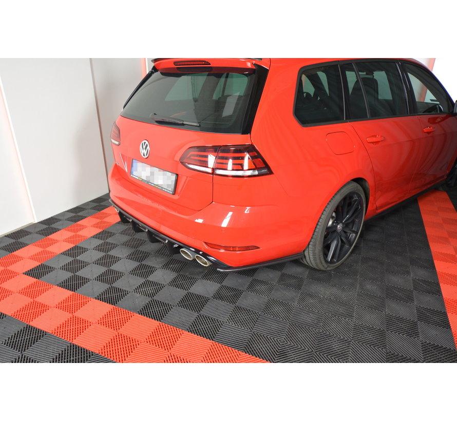 Maxton Design REAR SIDE SPLITTERS V.2 VW GOLF 7 R VARIANT FACELIFT