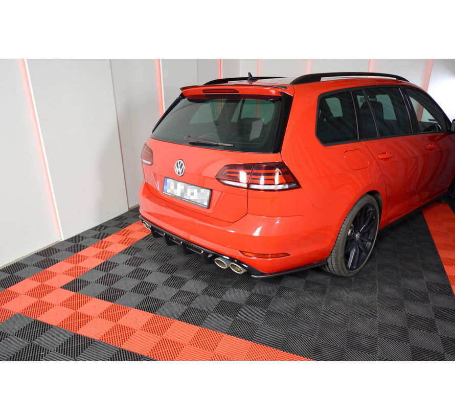 Maxton Design REAR DIFFUSER VW GOLF 7 R VARIANT FACELIFT