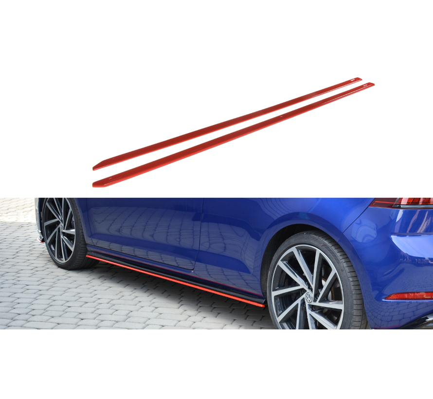 Maxton Design SIDE SKIRTS DIFFUSERS V.2 VW GOLF 7 R FACELIFT
