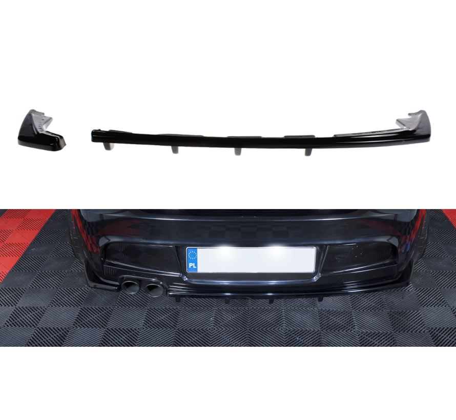 Maxton Design CENTRAL REAR SPLITTER (WITH VERTICAL BARS) BMW 1 E81/ E87 M-PACK FACELIFT