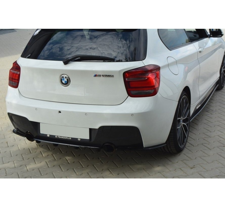 Maxton Design CENTRAL REAR SPLITTER BMW 1 F20/F21 M-POWER (WITH VERTICAL BARS)