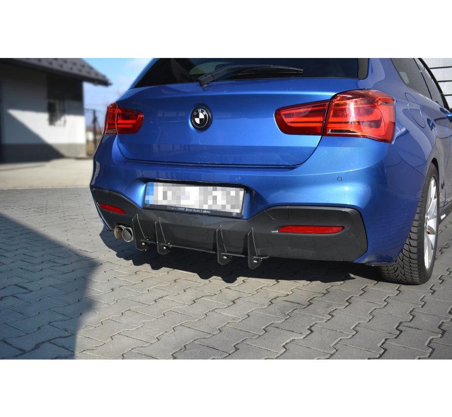 Maxton Design BMW 1 F20/F21 M-POWER FACELIFT - REAR DIFFUSER V.1