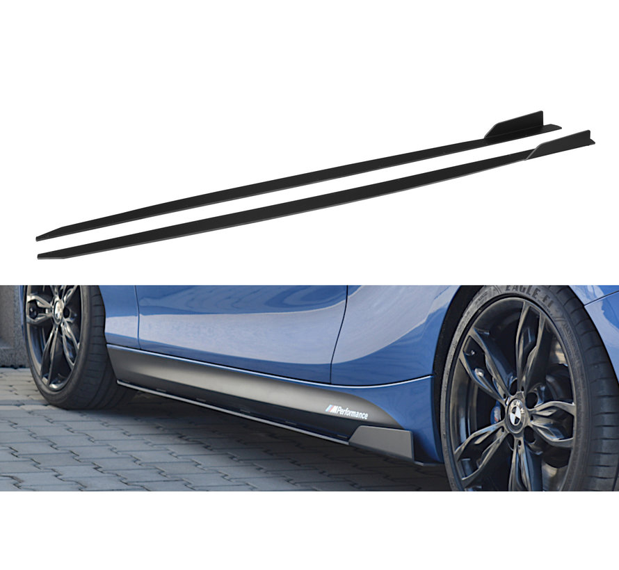Maxton Design RACING SIDE SKIRTS DIFFUSERS BMW 1 F20/F21 M-POWER FACELIFT