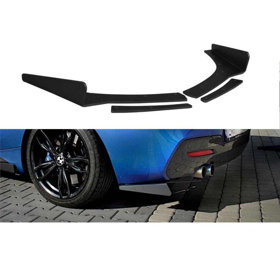 Maxton Design REAR SIDE SPLITTERS BMW 1 F20/F21 M-POWER FACELIFT