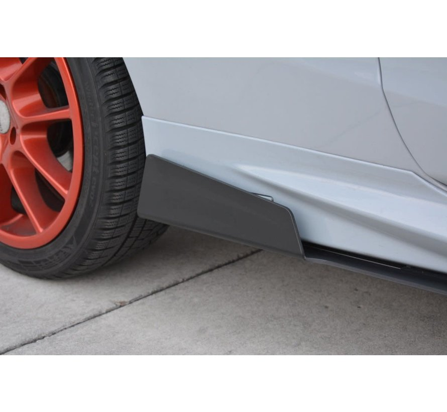 Maxton Design RACING SIDE SKIRTS DIFFUSERS FORD FIESTA MK7 ST FACELIFT