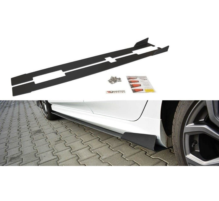 Maxton Design RACING SIDE SKIRTS DIFFUSERS V.1 FORD FIESTA MK8 ST/ ST-LINE