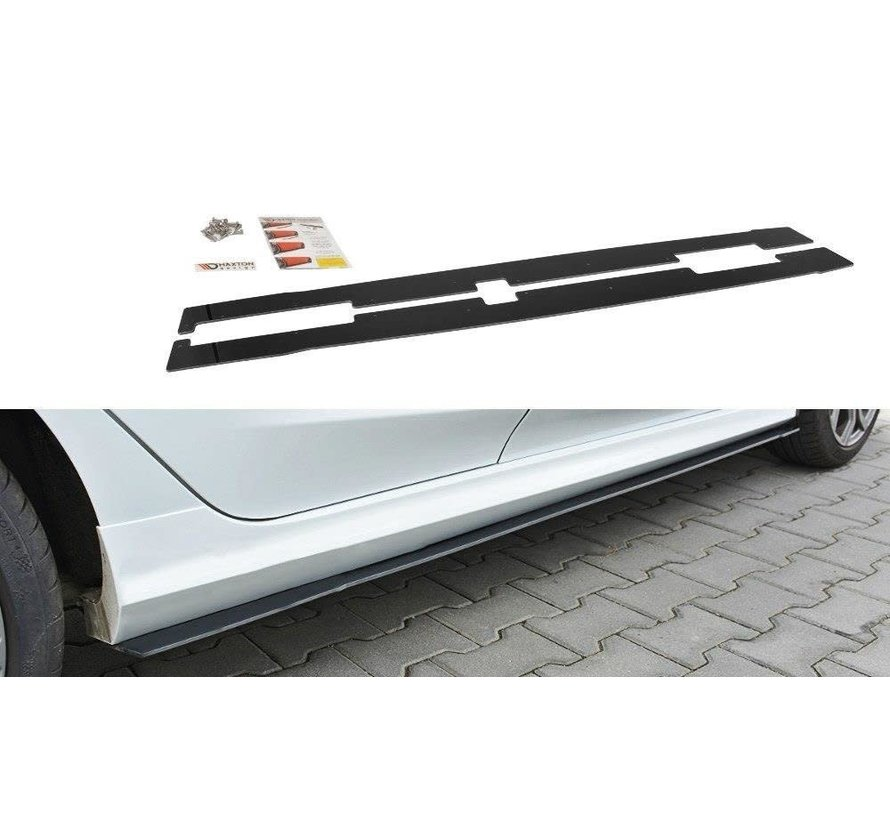 Maxton Design RACING SIDE SKIRTS DIFFUSERS V.2 FORD FIESTA MK8 ST/ ST-LINE