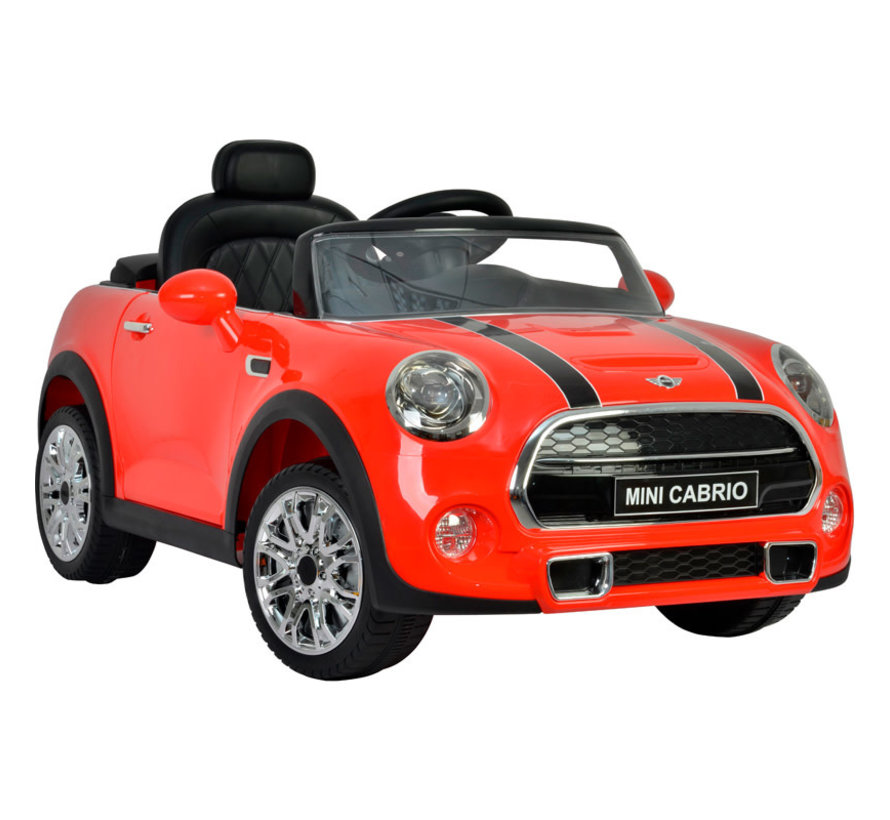 Accu-Auto Mini Cooper Rood - 12V - incl. MP3 en afstandsbediening - vanaf 3 jaar