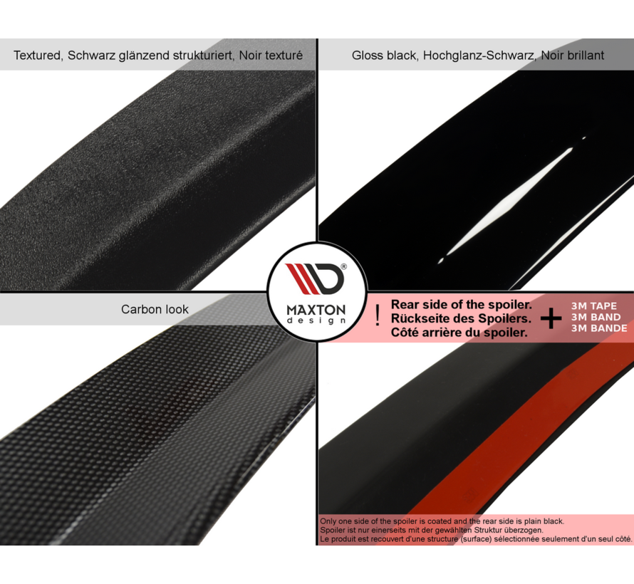 Maxton Design SPOILER CAP AUDI S1 8X HATCHBACK