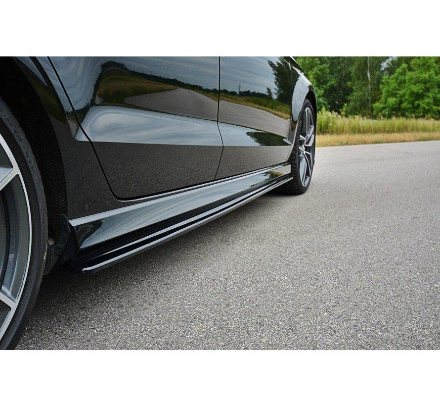 Maxton Design SIDE SKIRTS SPLITTERS AUDI S3 / A3 S-LINE 8V / 8V FL SEDAN