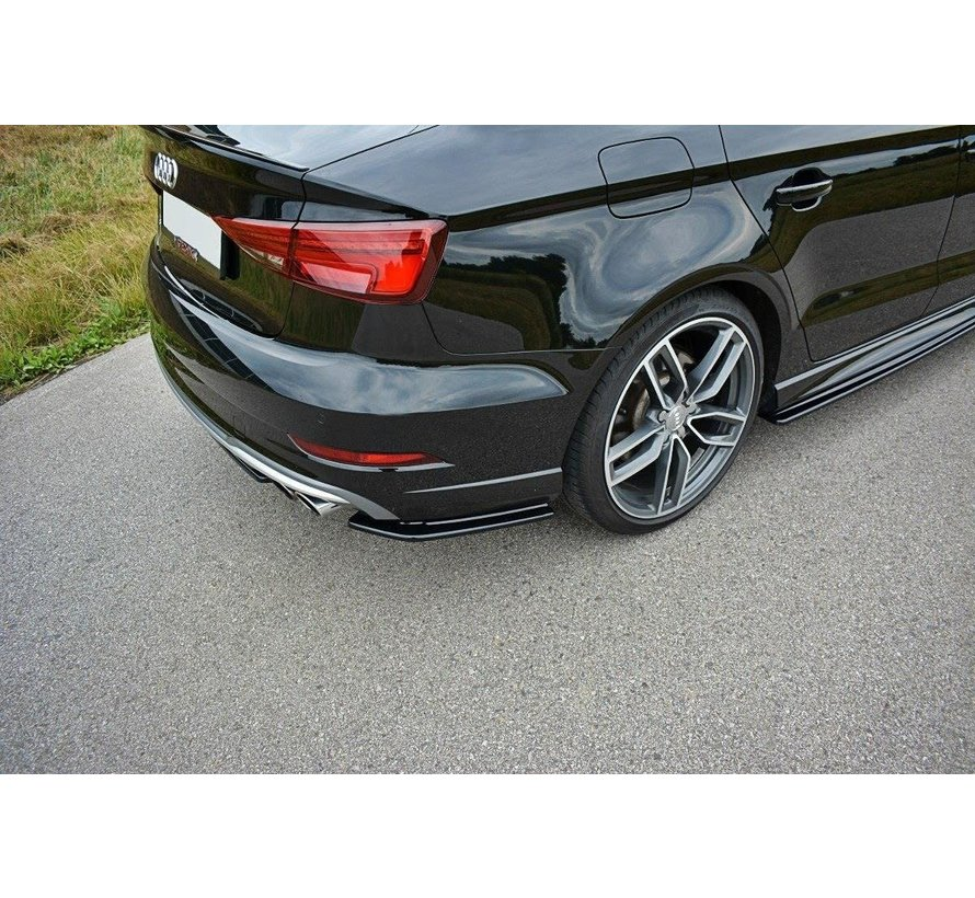 Maxton Design REAR SIDE SPLITTERS AUDI S3 / A3 S-LINE 8V FL SEDAN