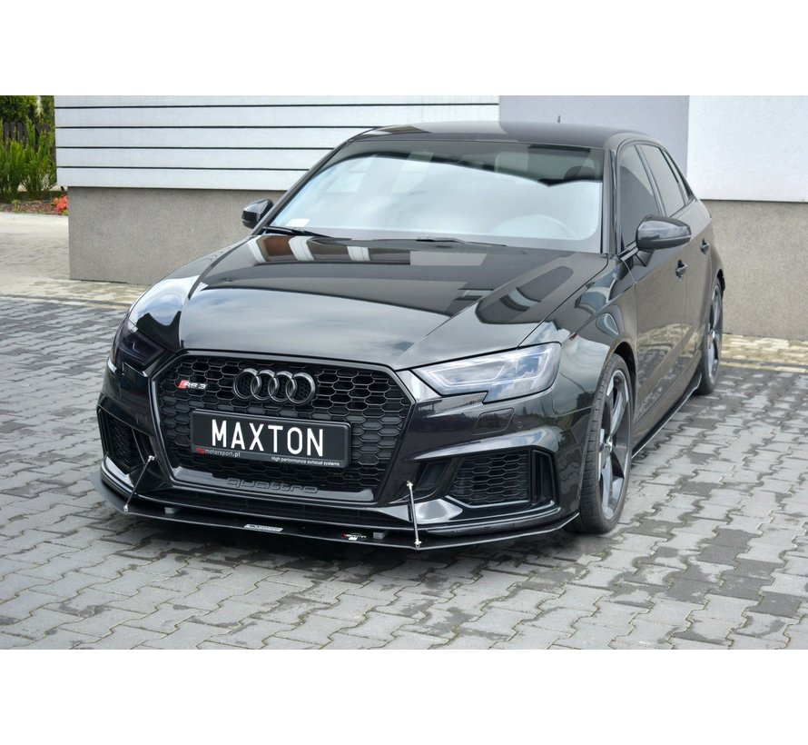 Maxton Design FRONT RACING SPLITTER V.1 AUDI RS3 8V FL SPORTBACK