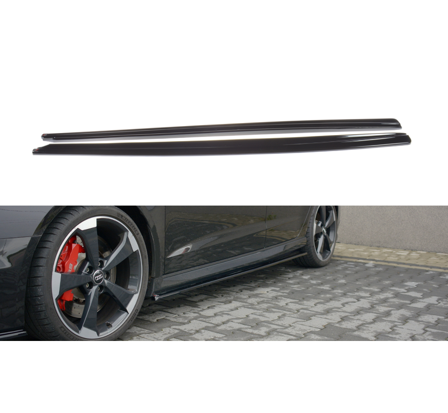 Maxton Design SIDE SKIRTS DIFFUSERS AUDI RS3 8V FL SPORTBACK
