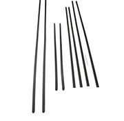 8-teiliges Sierlijsten-Set, zwart, passend voor Golf I