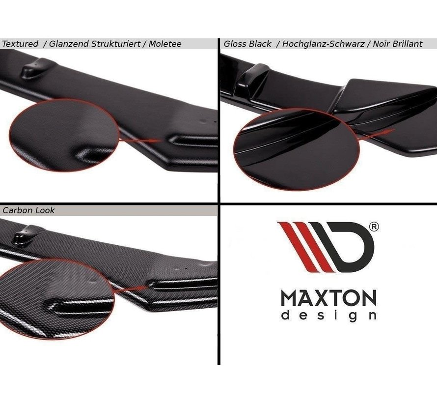 Maxton Design CENTRAL REAR SPLITTER AUDI A5 S-LINE 8T COUPE / SPORTBACK (WITHOUT A VERTICAL BAR)