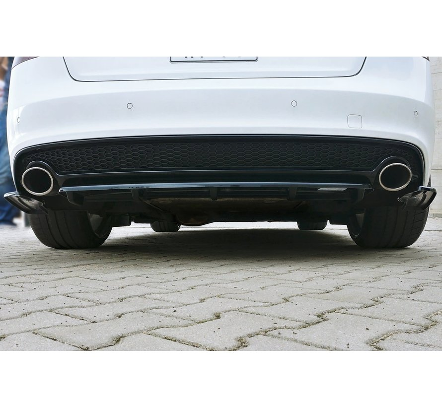 Maxton Design CENTRAL REAR SPLITTER AUDI A5 S-LINE 8T FL COUPE / SPORTBACK (WITH A VERTICAL BAR)