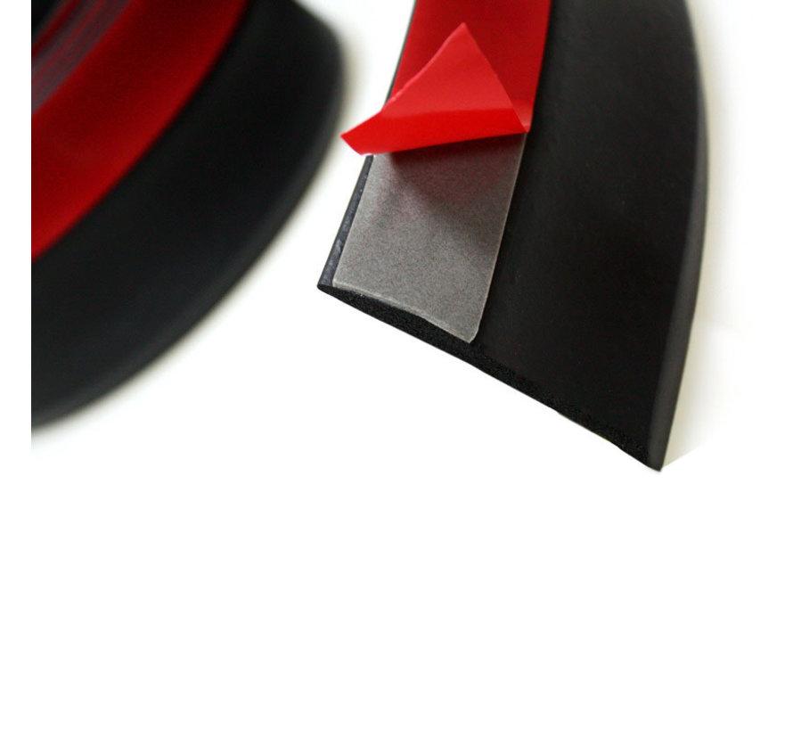 Easy-Lip Universele Voorspoiler/Sideskirt 225cm Zwart EPDM Rubber