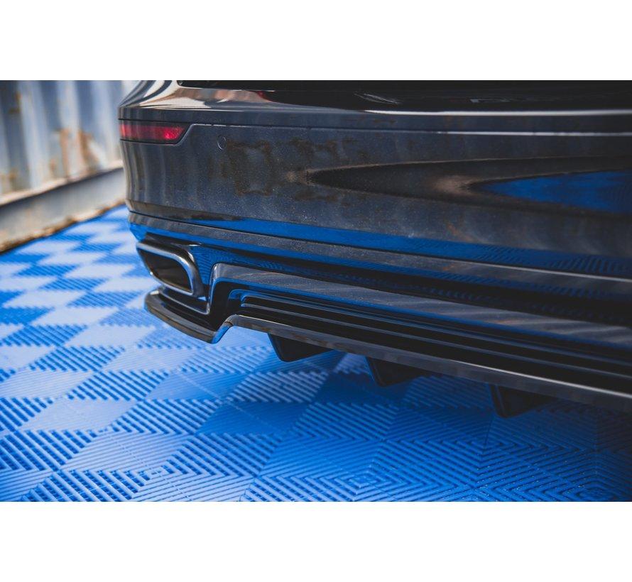 Central Rear Splitter (with vertical bars) Volvo S60 R-Design Mk3